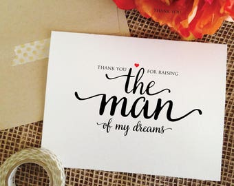 thank you for raising THE MAN of my dreams mother in law card wedding gift for mother in law gift mother of the groom gift from bride (wa8m)