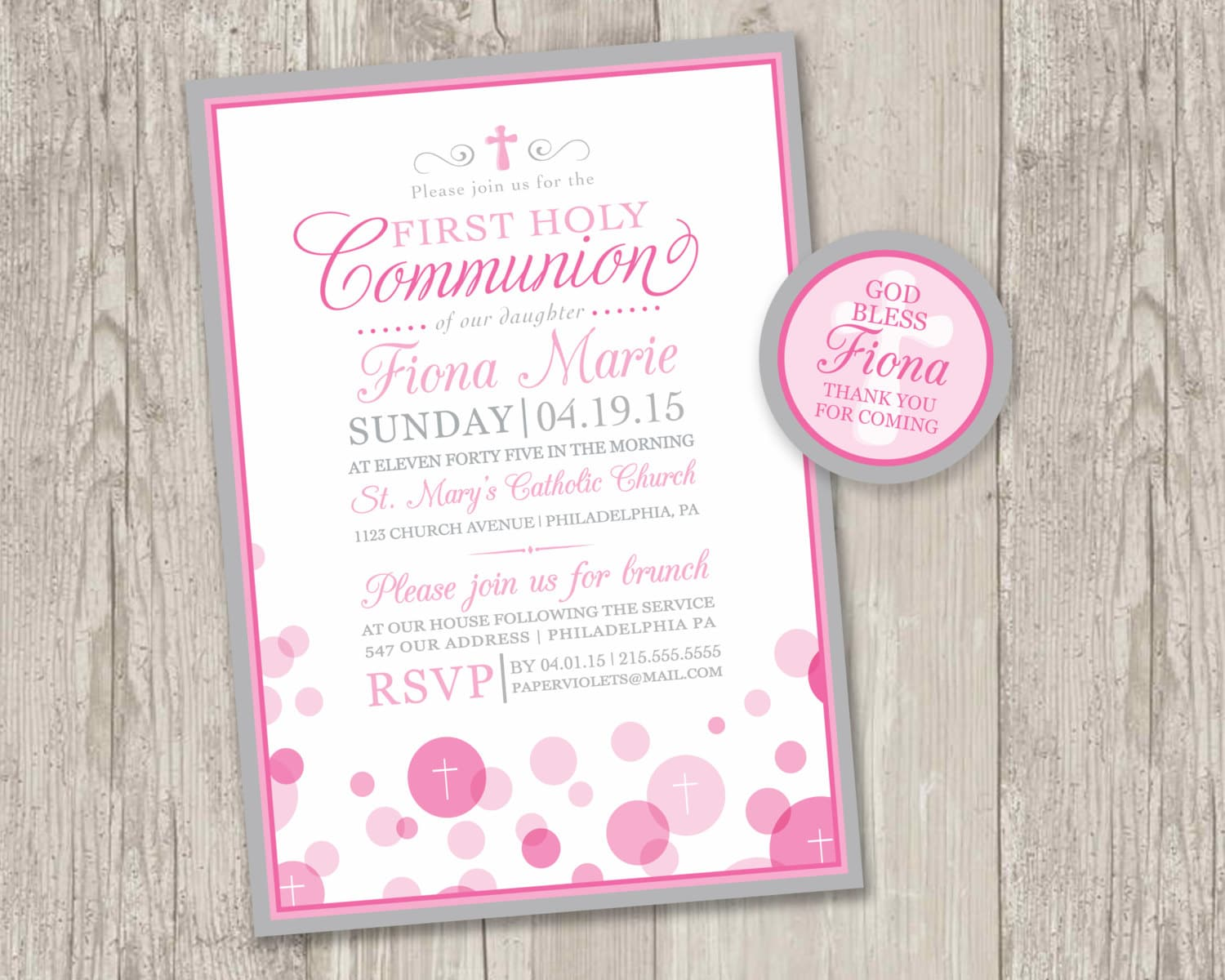Punchy image intended for first communion invitations free printable
