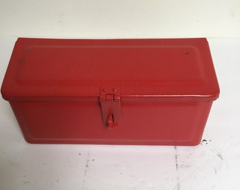 Vintage Red Fordson Tractor Toolbox