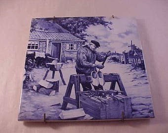 Delft Pottery Decorative Tile Made in Holland