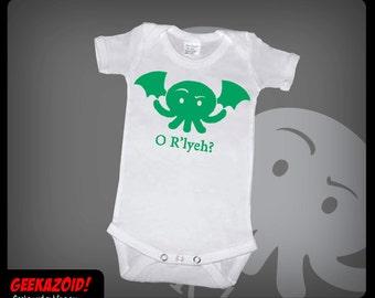 Cthulhu O R'lyeh Baby Onesie Lovecraft Humor
