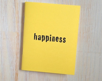 Medium Notebook: Happiness, Yellow, Gift, For Her, For Him, Wedding Notebook, Wedding Journal, Wedding, Favor, Journal, Notebook, BBBB297