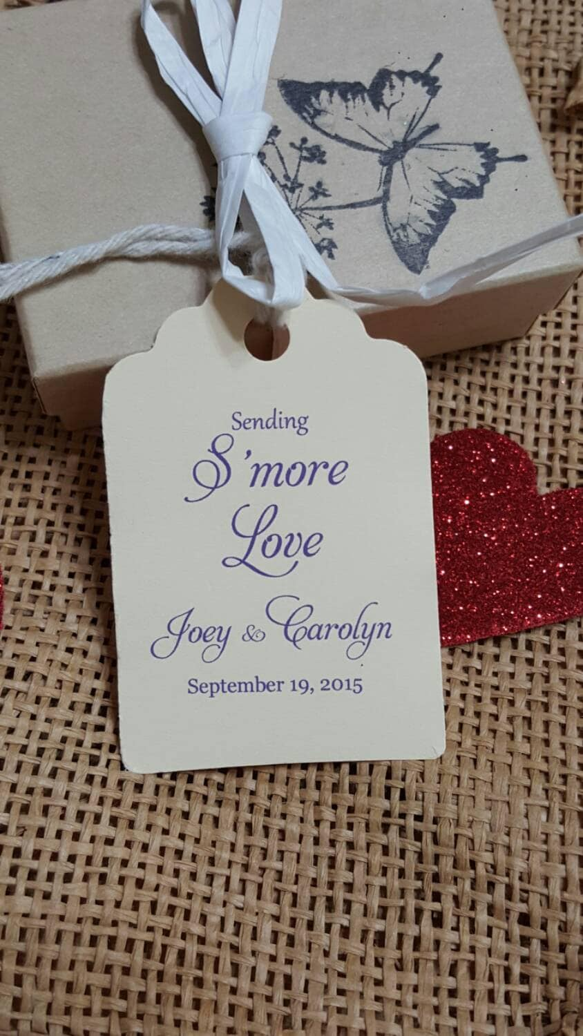 Personalized Favor Tags 2 1/2\'\' Wedding tags Thank