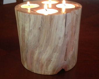 Rustic tea light holder, Wooden Candle Holder, Wood Candle Holder, Wooden Home Decor, Rustic Decor