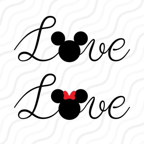 Love Mouse Svglove Svg Disney Valentine Love Quote Svg Cut
