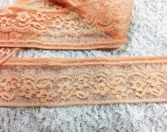 Peach Vintage Lace