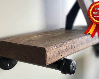 Wood Floating Shelves, Farmhouse Shelf, Reclaimed Style Distressed Rustic Shelf, Wooden Floating Shelf, Open Shelving, Open Shelves