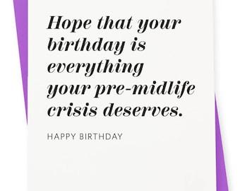 Birthday Card - Crisis Letterpress Card