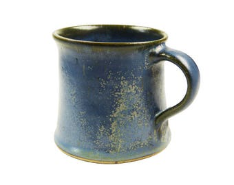 Ceramic cup small effect blue