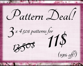 Super Pattern Deal! Amigurumi pattern deal! 19% off!