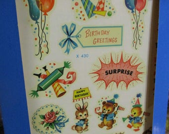 Vintage Meyercord Decals-Birthday