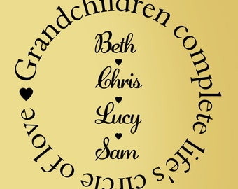 Grandchildren Personalized Decal