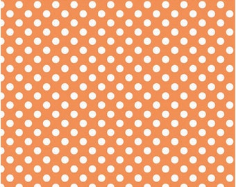 Small Dots Orange - Fat Quarter Cut -  Riley Blake Designs - Orange Dots - Cotton Fabric - Orange Fabric