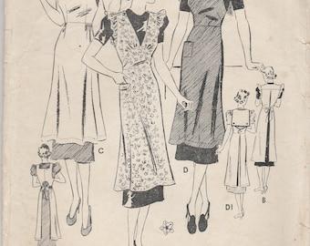 1930s Apron Pattern Butterick 7652 Size 14 Bust 32 (damaged)