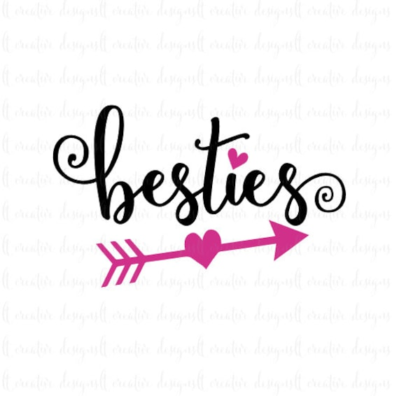 besties svg best friends svg friends svg heart svg bff rh etsy com bff heart clipart bff images clipart