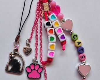Keychain 'I Love Cats'