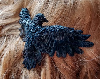Raven hair Comb Night Blue