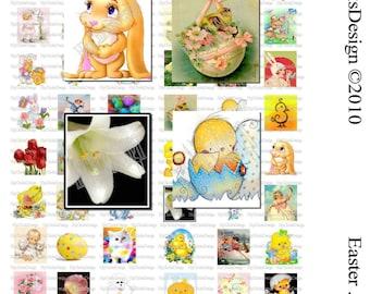 Easter Scrabble Tile Sampler - Digital Collage Sheet No.008