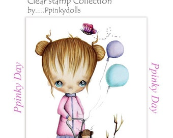 Ppinkydolls's 'Ppinky Day' clear rubber stamp