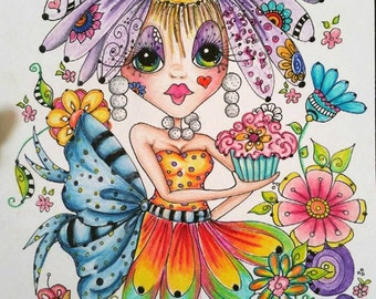 INSTANT DOWNLOAD Digital Digi Stamps Big Eye Big Head Dolls Digi  Img890 Zen Art TM By Sherri Baldy