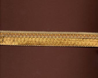 Viscose-cotton 3cm wide gold braid