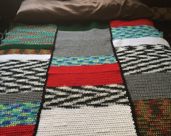 Colored Blocked Throw