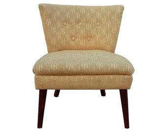 Mid-Century Arm Less Chair, Slipper Boudoir Side Chair