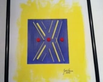 JR304 Primary color abstract collage