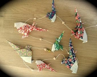 Genuine Japanese paper origami bird Garland