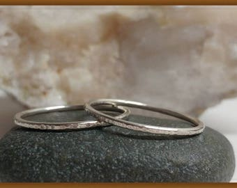 Thin silver thumb ring or wedding band