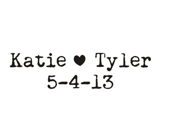 typewriter font custom name and date rubber stamp monogram logo rubber stamp 3 inches