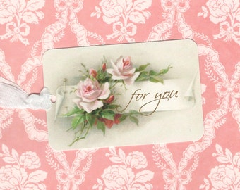 Gift Tags, Roses, Vintage Style, For You, Tags