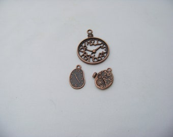 Steampunk Gears and Clocks Charms 4861