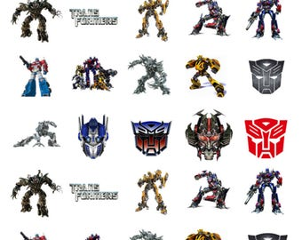 30 x Transformers Party Edible Stand Up Wafer Cupcake Toppers x 30