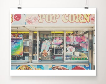 Illinois State Fair photography, carnival print, food photography, cotton candy, pop corn, candy apples, kitchen decor, midwest travel
