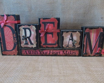 DREAM Word Block Sign