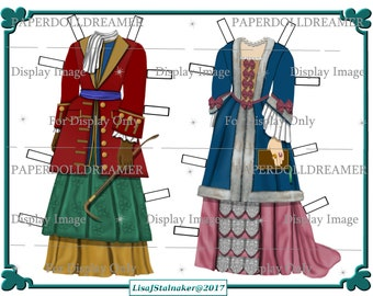 Printable Paper Doll - Joanna Barnes Additional Costumes