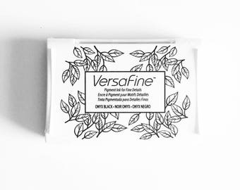 Black Ink Pad: Versafine fine detail ink