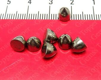 6x6mm 7x7mm 8x8mm Natural Pyrite Bullet Cabochon Gemstones - Semi Precious Bullets Gemstone Cabochon Pyrite Bullet Jewelry Gemstones