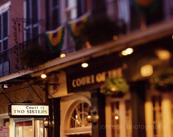 new orleans night photography french quarter architecture art restaurant photograph Court of Two Sisters