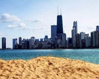 Sandy Chicago Skyline Print