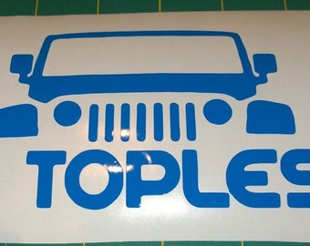 Wrangler Go Topless - Vinyl Decal for Jeep