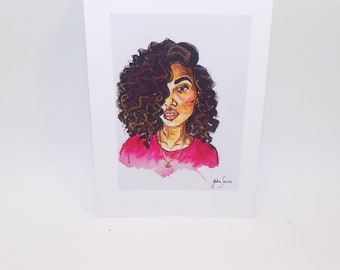 Postcard Curly Girl