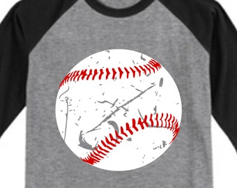 Baseball Svg file for Cricut Distressed Baseball Svg Baseball Svg for Boy Silhouette Cameo Baseball Cut file Baseball Shirt Svg Dxf Png