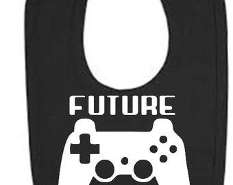 Future Gamer bib, Future Gamer baby bib, Gaming Baby bib, gaming bib, video game baby bib, video game bib, gaming baby boy