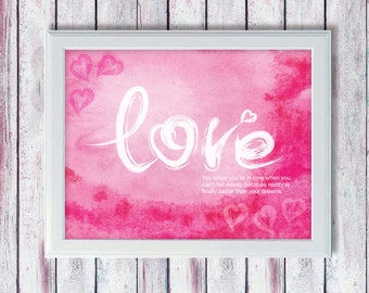 Valentines Printable Art - Valentines Printable Quote - Love Quote - Instant Download Art - Happy Art - Wall Art Quote - Quote Print