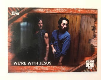 the walking dead fridge magnet - we're with jesus