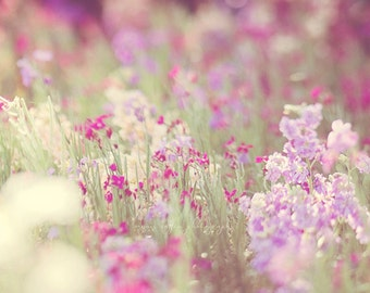 garden photography, baby nursery art, purple flower photograph, Monet, lavender lilac, radiant orchid spring nature print, dreamy photo