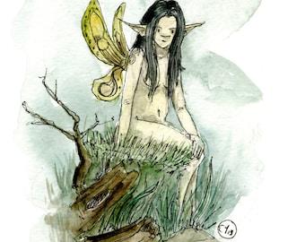 Faerie 002 -Fine Art print of my original illustration