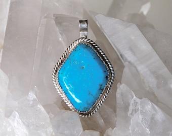 Diamond Shaped Turquoise Pendant